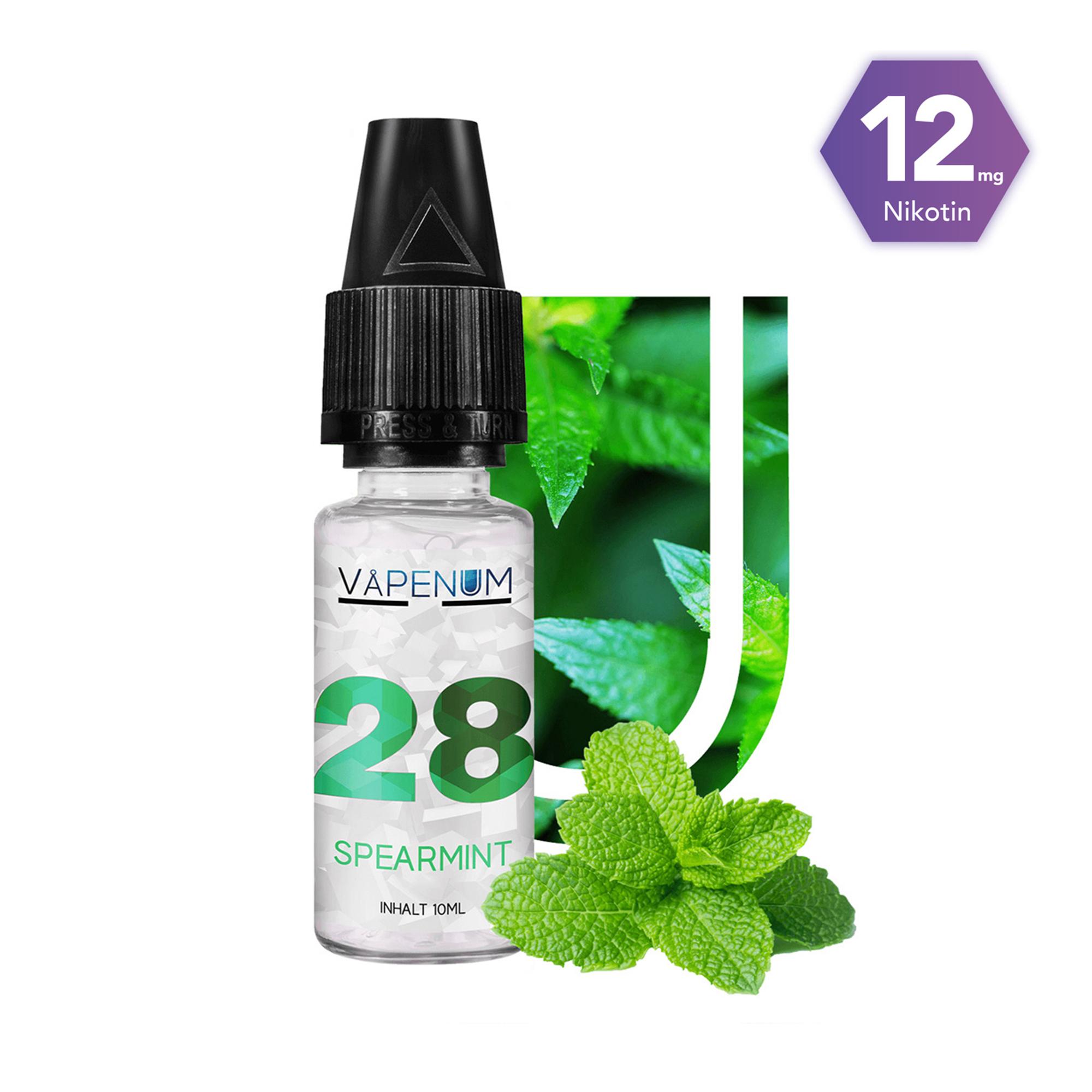 28 - Spearmint Liquid by Vapenum 12mg