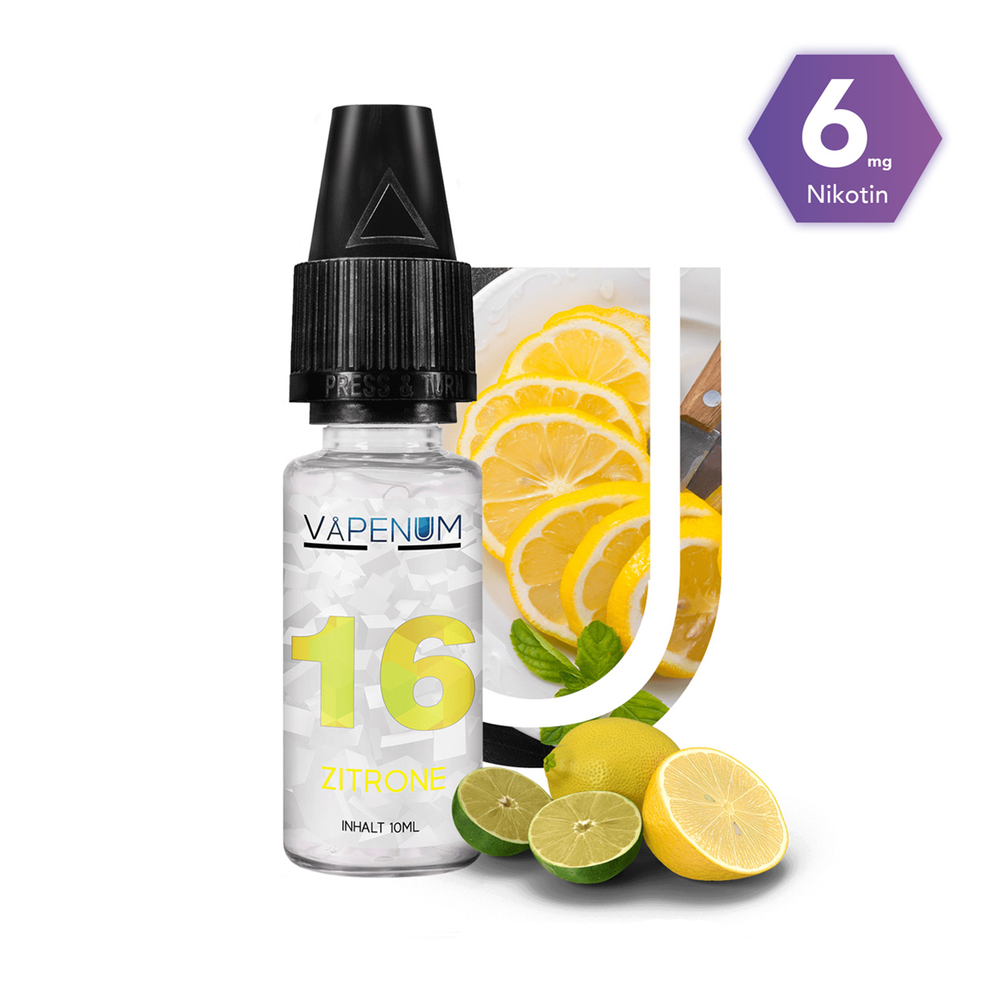 16 - Zitrone Liquid by Vapenum 6mg
