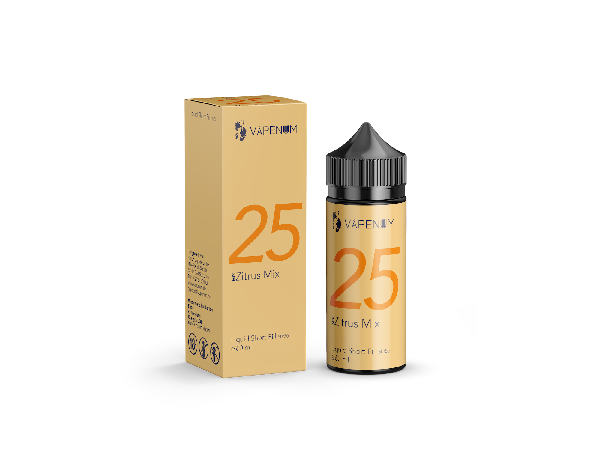 Vapenum Shortfill Mix 25 Zitrus Mix