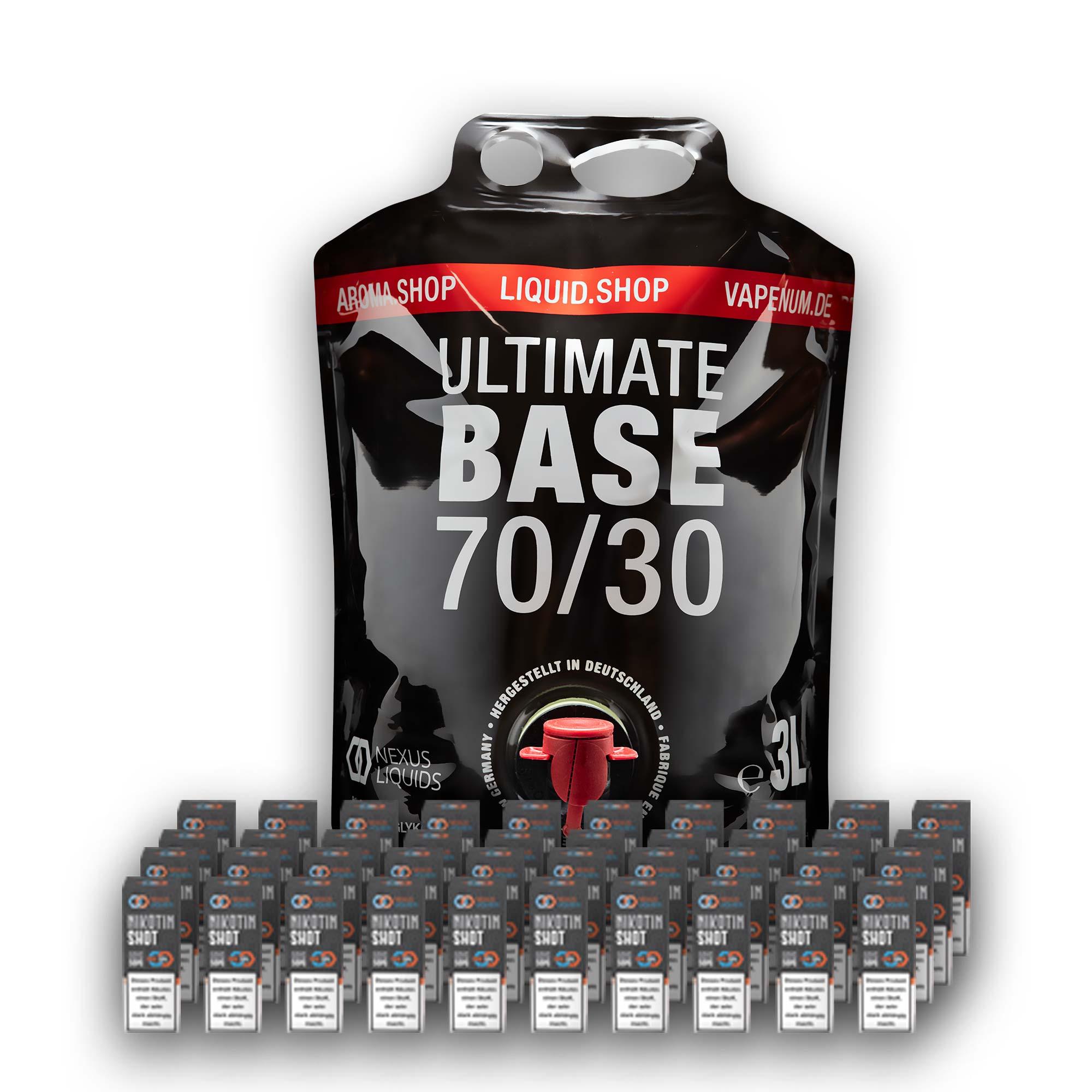 3L Ultimate Base (70/30) inklusive 40 Nik Shots 18mg