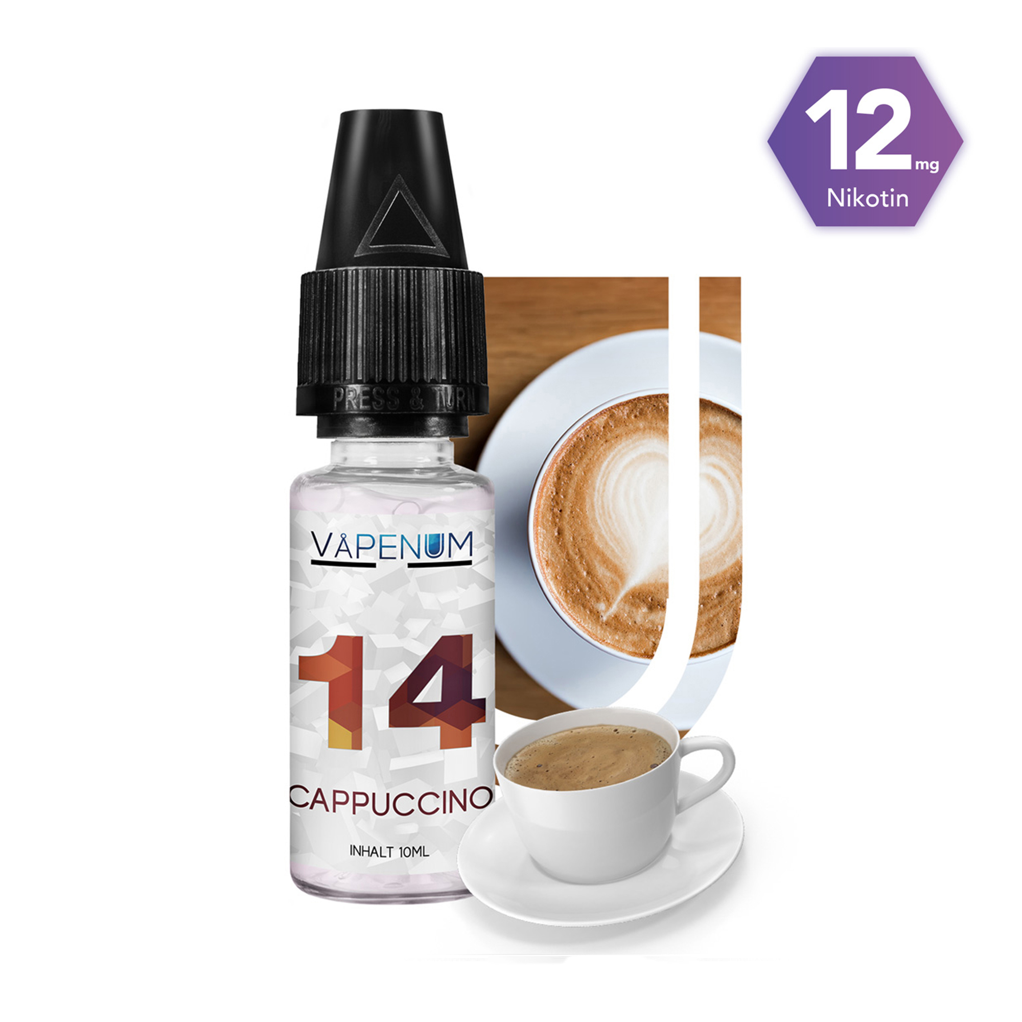 14 - Cappuccino Liquid by Vapenum 12mg