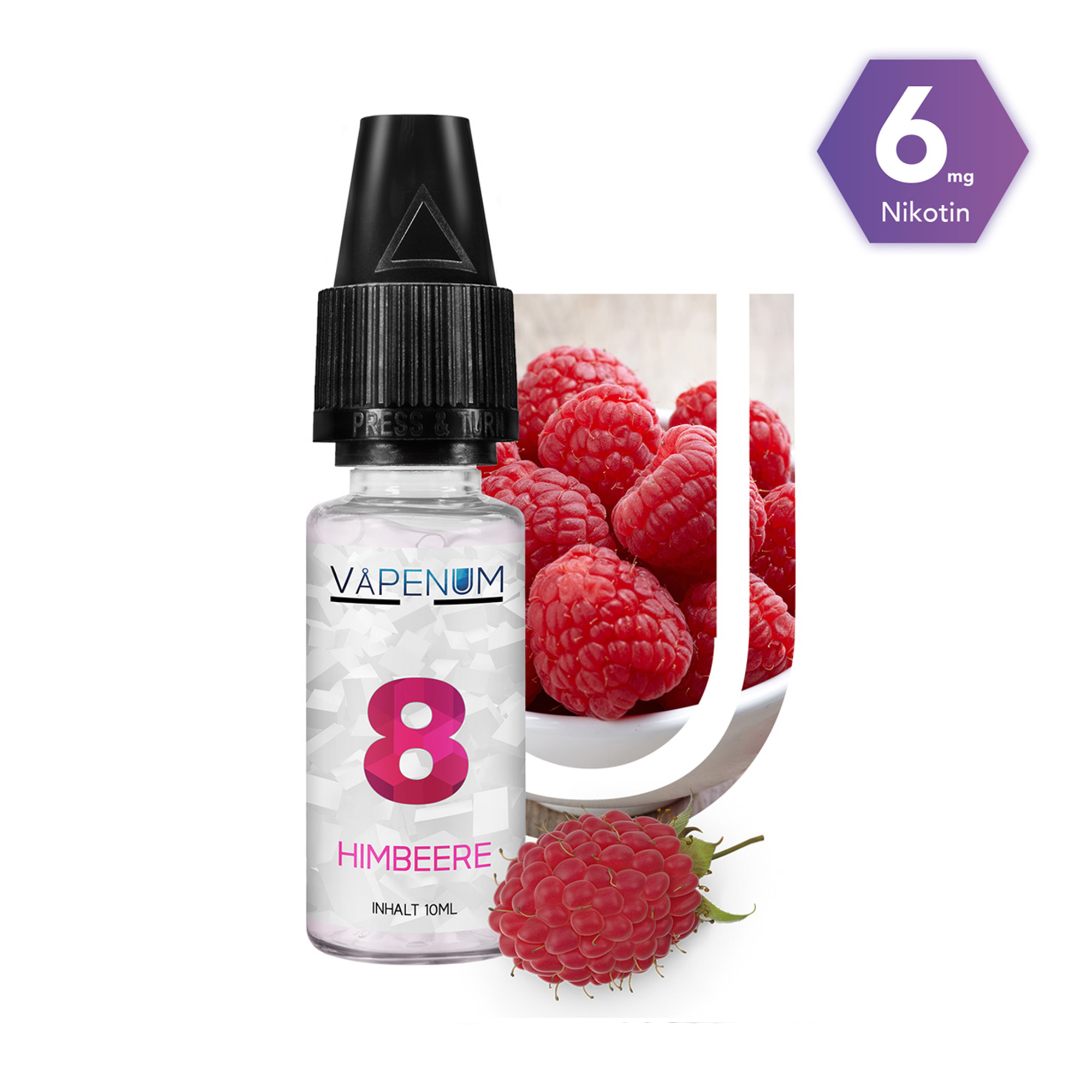 8 - Himbeere Liquid by Vapenum 6mg