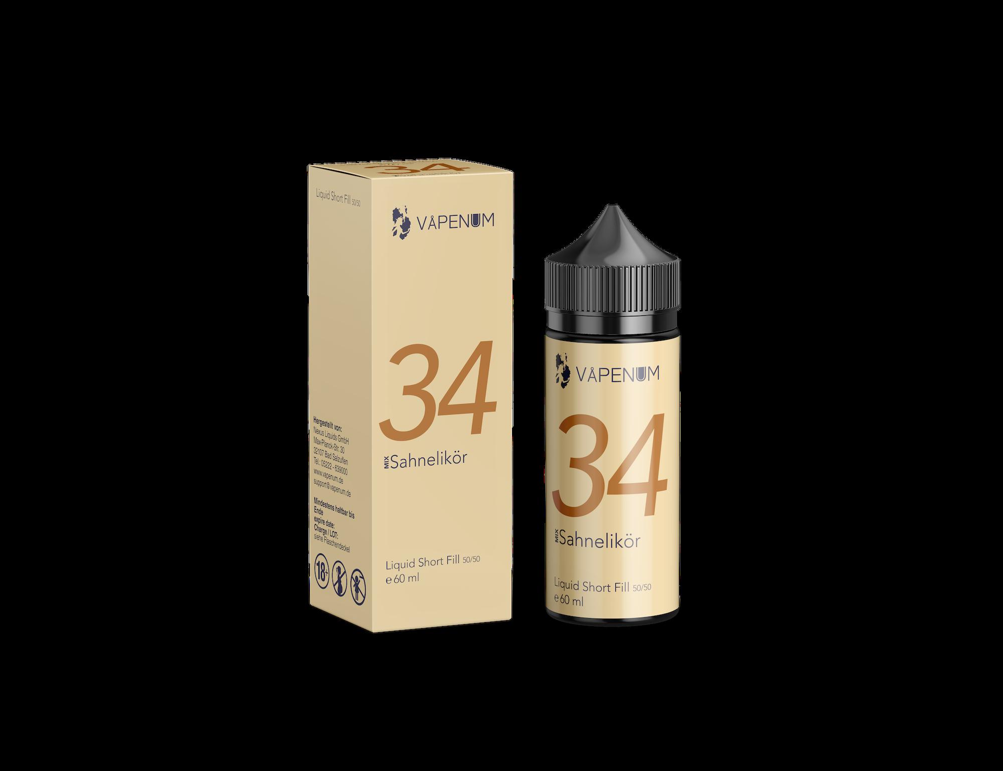 Vapenum Shortfill Mix 34 Sahnelikör