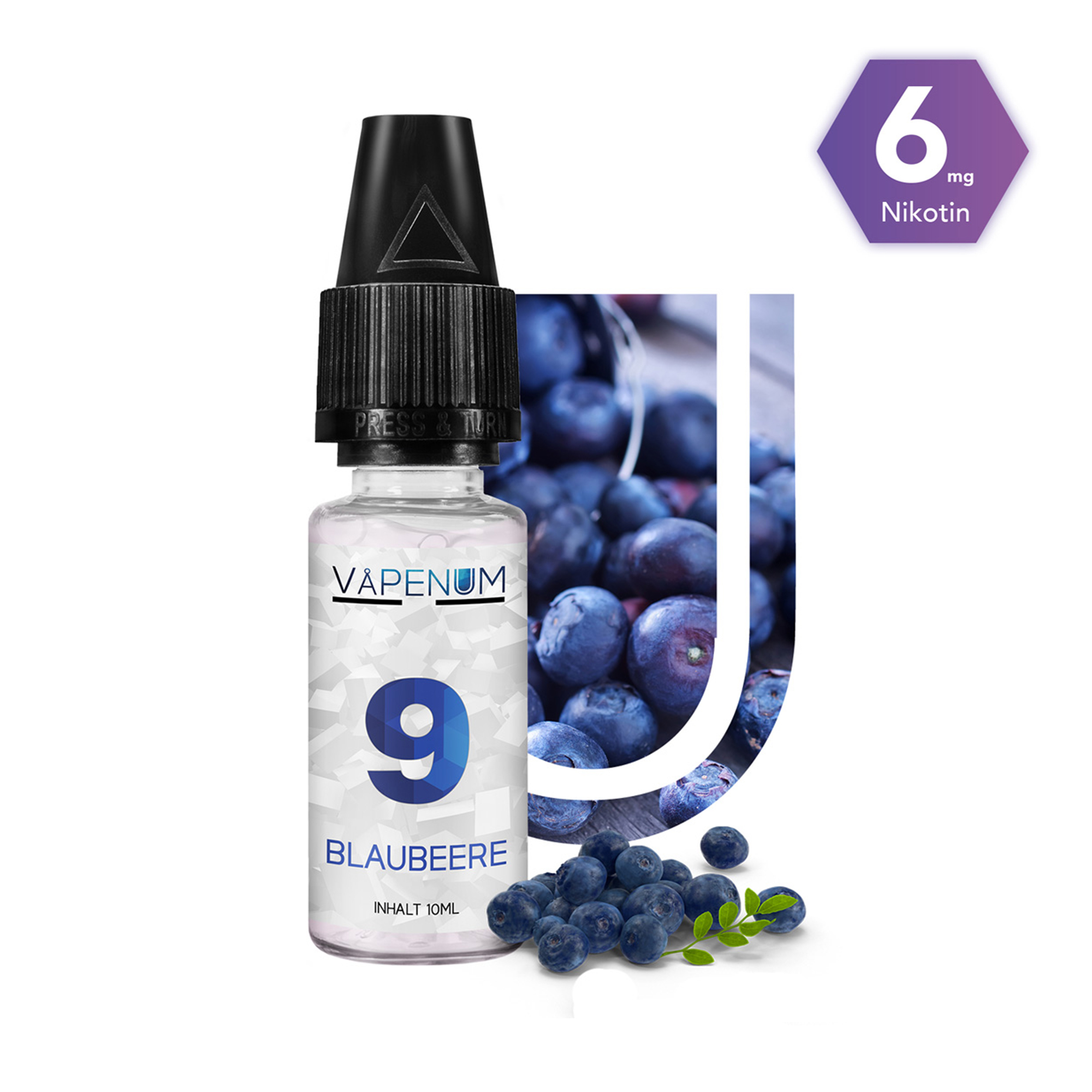 9 - Blaubeere Liquid by Vapenum 6mg