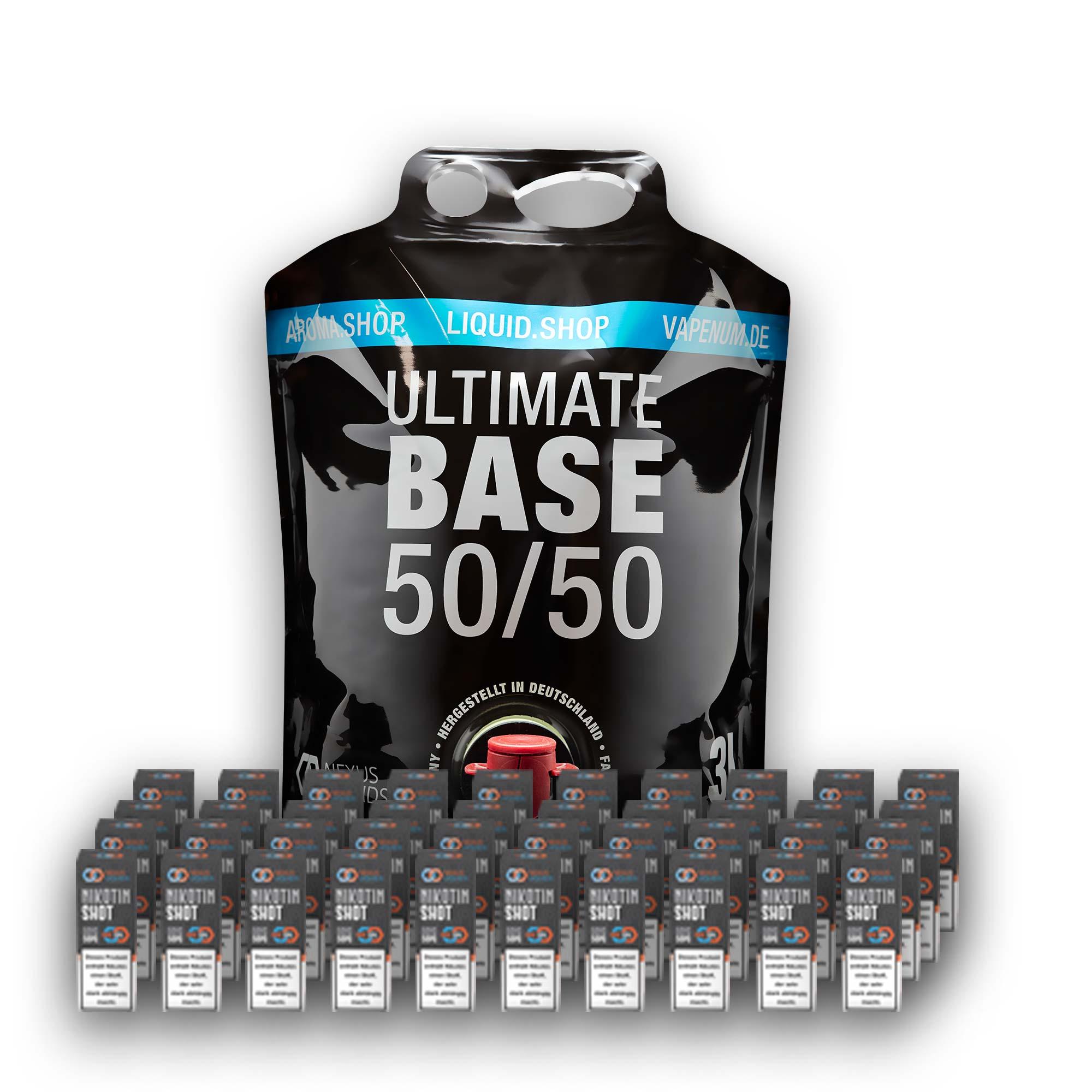 3L Ultimate Base (50/50) inklusive 40 Nik Shots 18mg