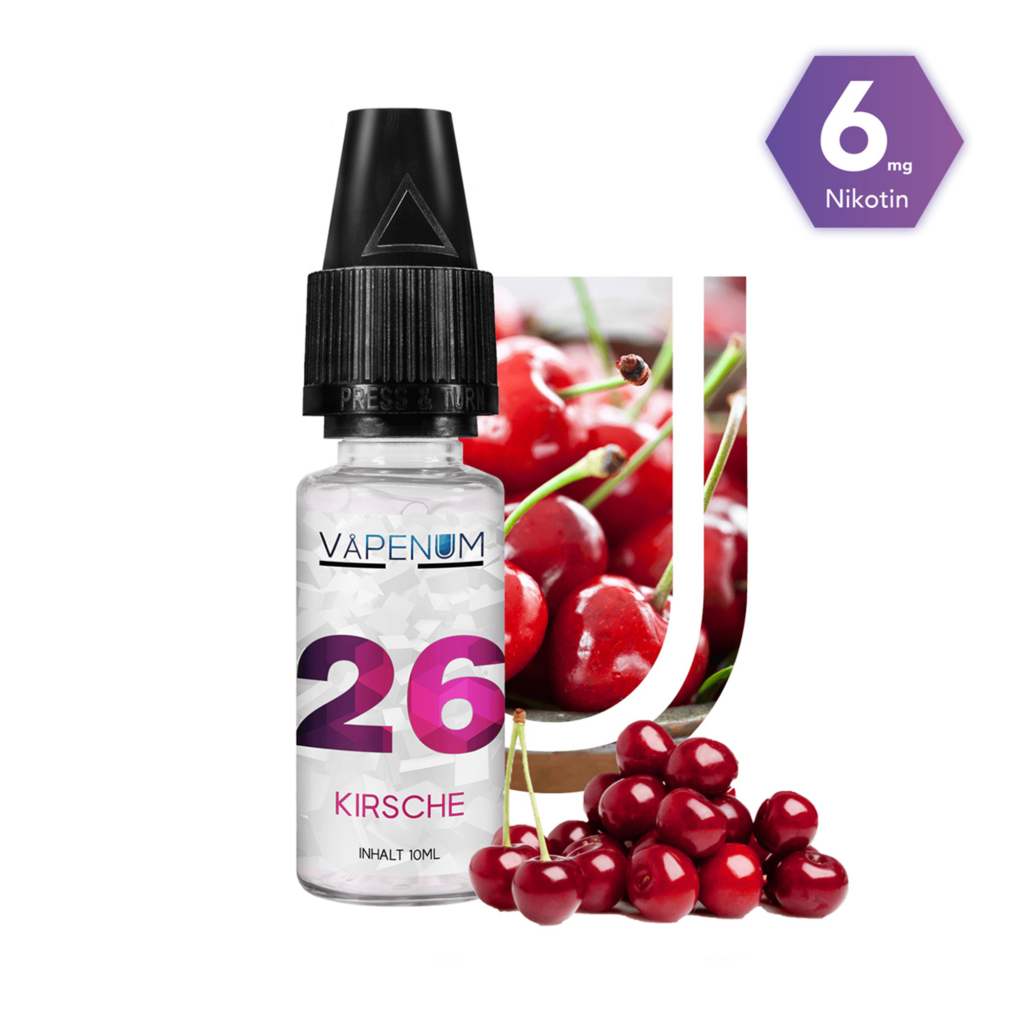 26 - Kirsche Liquid by Vapenum 6mg