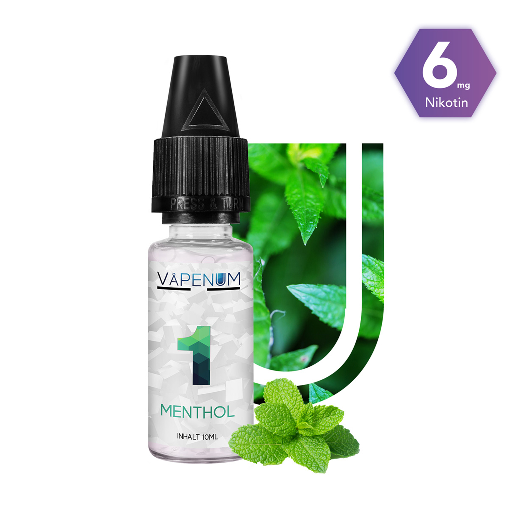1 - Menthol Liquid by Vapenum 6mg