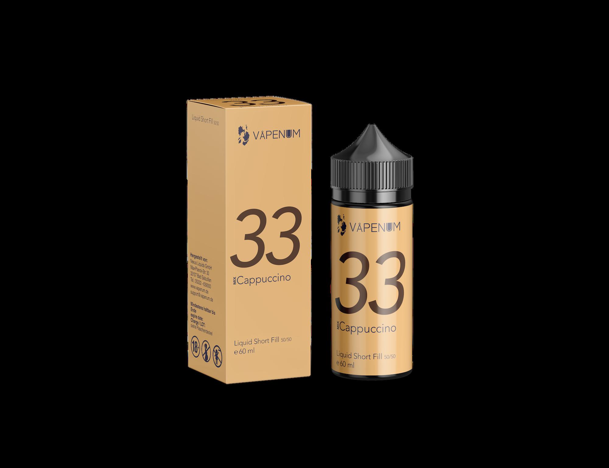 Vapenum Shortfill Mix 33 Cappuccino